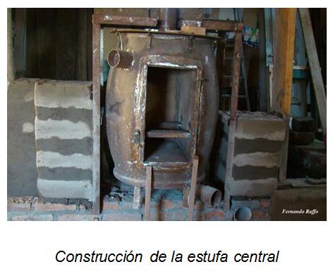 construcción de la estufa central