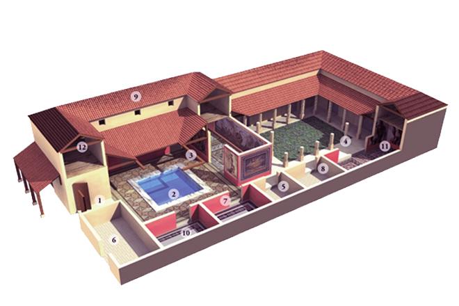 """Modelo de una casa romana """"Domus Italica"""""""