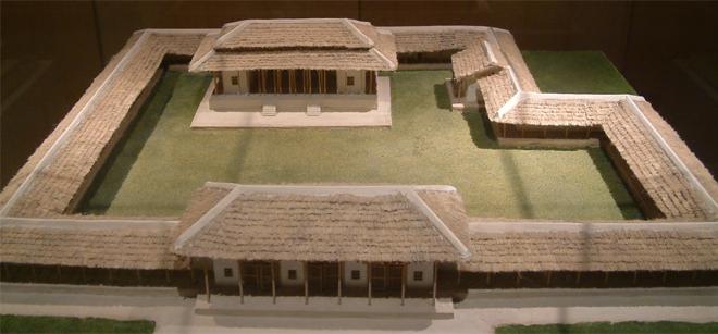 Reconstrucción de un Palacio Erlitou, Provincia de Henan, China, 1500 a.C. aprox.